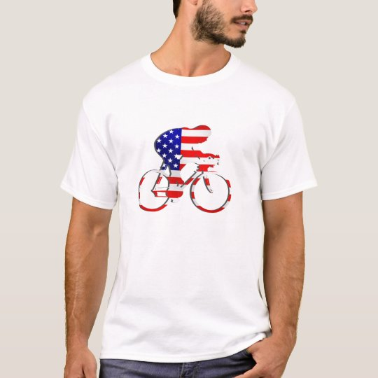 American USA Cycling Cyclists Bicycle Gear T-Shirt