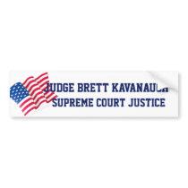 American USA  Flag Confirm Judge Brett Kavanaugh Bumper Sticker