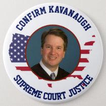 American USA  Flag Confirm Judge Kavanaugh Button