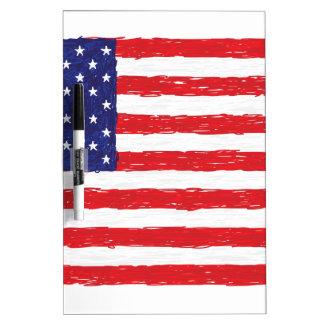 American USA Flag *Hand Sketch* Us Flag Dry Erase Board