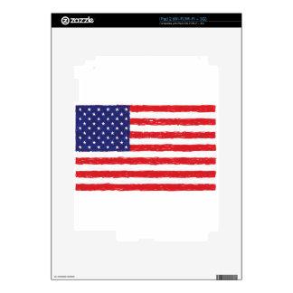 American USA Flag *Hand Sketch* Us Flag Skins For iPad 2