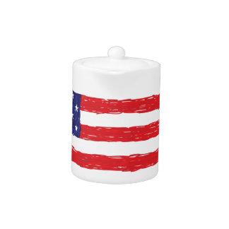 American USA Flag *Hand Sketch* Us Flag