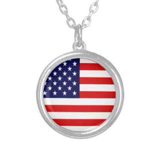 American USA Flag Personalized Necklace