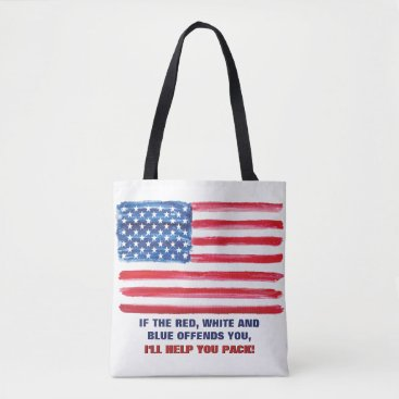 USA Themed American USA Flag Offends Patriotic Political Tote Bag