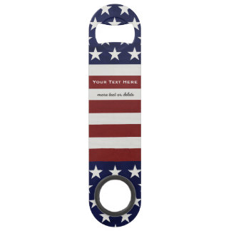 American USA Flag Patriotic July 4th Custom Bar Key