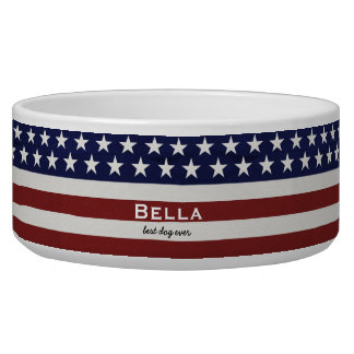 American USA Flag Patriotic July 4th Custom Bowl