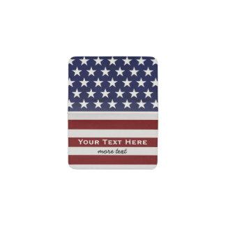 American USA Flag Patriotic July 4th Custom Business Card Holder