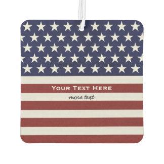 American USA Flag Patriotic July 4th Custom Car Air Freshener