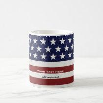 American USA Flag Patriotic July 4th Custom Classic White Coffee Mug