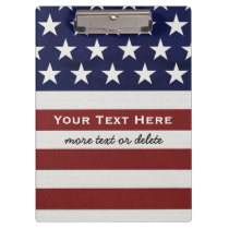 American USA Flag Patriotic July 4th Custom Clipboard
