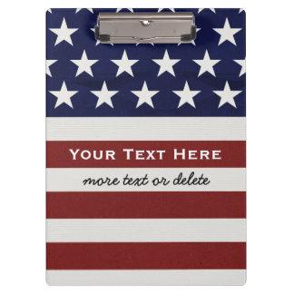 American USA Flag Patriotic July 4th Custom Clipboard
