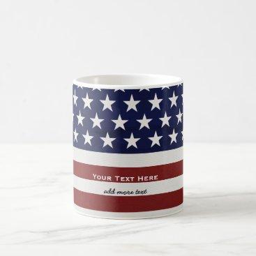 colorfulgalshop American USA Flag Patriotic July 4th Custom Coffee Mug
