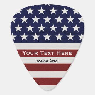 American USA Flag Patriotic July 4th Custom Guitar Pick
