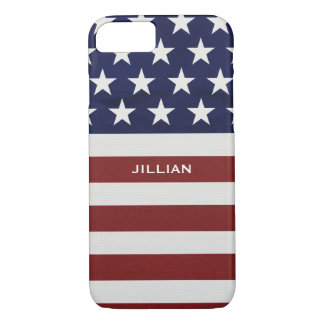 American USA Flag Patriotic July 4th Custom iPhone 7 Case