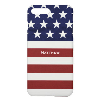 American USA Flag Patriotic July 4th Custom iPhone 8 Plus/7 Plus Case