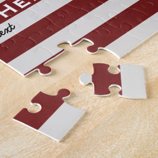 American USA Flag Patriotic July 4th Custom Jigsaw Puzzle