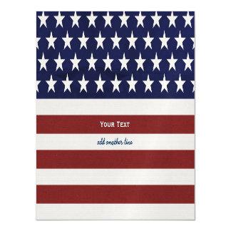 American USA Flag Patriotic July 4th Custom Magnetic Card