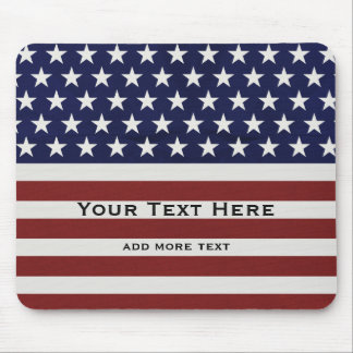 American USA Flag Patriotic July 4th Custom Mouse Pad