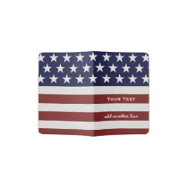 American USA Flag Patriotic July 4th Custom Passport Holder