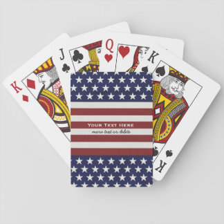 American USA Flag Patriotic July 4th Custom Playing Cards