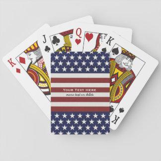 American USA Flag Patriotic July 4th Custom Playing Cards