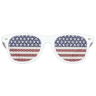 American USA Flag Patriotic July 4th Custom Retro Sunglasses