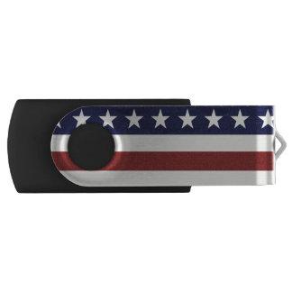 American USA Flag Patriotic July 4th Custom Swivel USB 2.0 Flash Drive