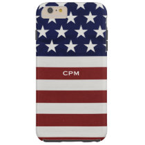 American USA Flag Patriotic July 4th Custom Tough iPhone 6 Plus Case