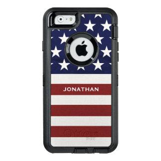 American USA Flag Patriotic July 4th Premium OtterBox Defender iPhone Case