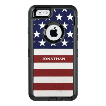 American Usa Flag Patriotic July 4th Premium Otterbox Defender Iphone Case by colorfulgalshop at Zazzle