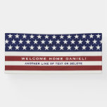 American USA Flag Patriotic July 4th Welcome Home Banner