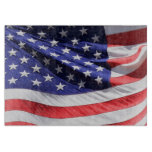 American USA Flag Photo Red White and Blue Cutting Board