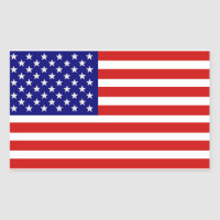 American USA Flag Sticker