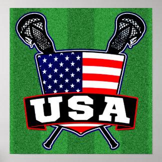 American USA Lacrosse Poster