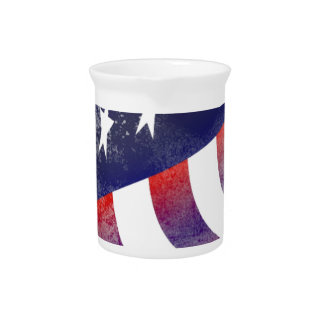 American USA National Flag Independence Day 4 th J Drink Pitcher