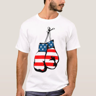american usa stars stripes boxing gloves tshirt