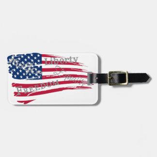 American Values Bag Tag