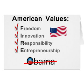 American Values: Fire Obama! Card