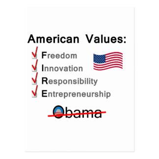American Values: Fire Obama! Postcard