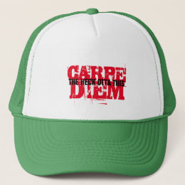 american version of carpe diem t-shirt design trucker hat