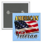 American Veteran Apparel and Gifts 2 Inch Square Button