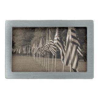 American Veteran Flags Belt Buckle