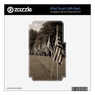 American Veteran Flags iPod Touch 4G Skin