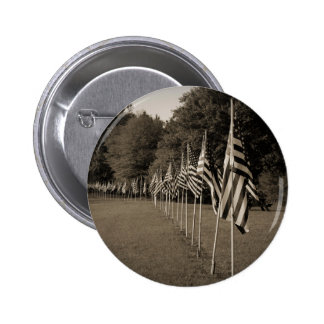 American Veteran Flags Pinback Button