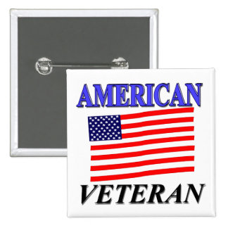 American Veteran Gifts and Merchandise Button