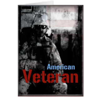 American Veteran Military Greeting Card
