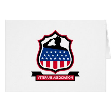 American Veteran Shield Icon Card
