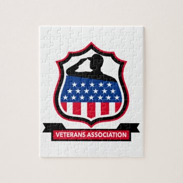 American Veteran Shield Icon Jigsaw Puzzle