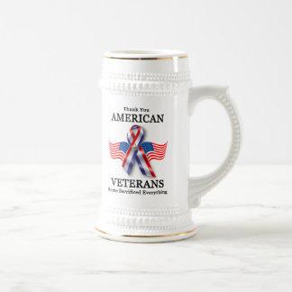 American Veterans 2 Beer Stein
