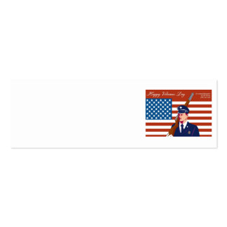 American Veterans Day Greeting Card Retro Business Card